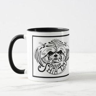 Mug Griffonnage de chien de Shih Tzu