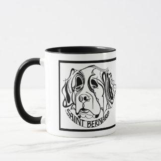 Mug Griffonnage de chien de St Bernard