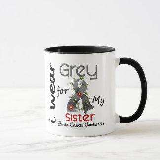 Mug Gris d'usage du cancer du cerveau I pour ma soeur