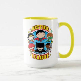 Mug Groupe de ligue de justice de Chibi