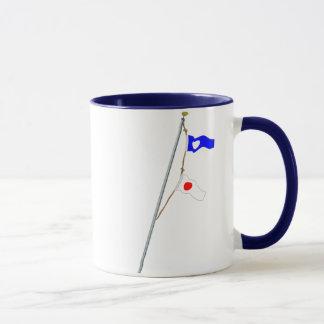 Mug Grue de drapeau de signal nautique du numéro 21
