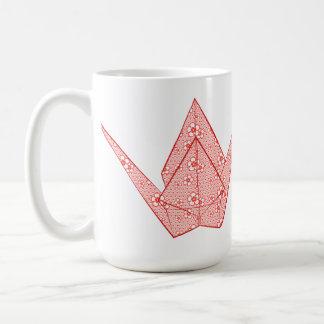 Mug Grue de papier avec les coeurs et le motif de