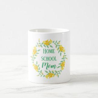 Mug Guirlande à la maison florale jaune et verte de