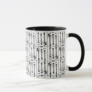 Mug Guitars pattern