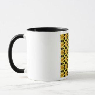 Mug Gustav Klimt l'or de noir de jaune de motif de