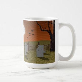Mug Halloween : Scène de cimetière :