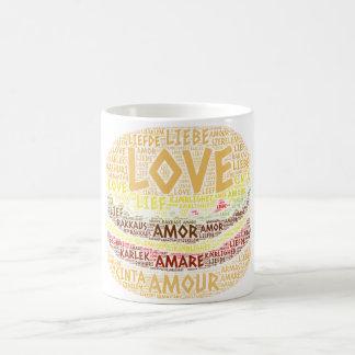 Mug Hamburger illustré avec le mot d'amour