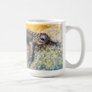 Mug Hatchling de tortue de mer écrivant le surf