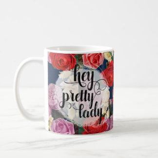 Mug Hé assez roses vintages dramatiques de Madame |