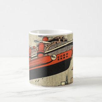 Mug Hélicoptère vintage de bateau de croisière de la