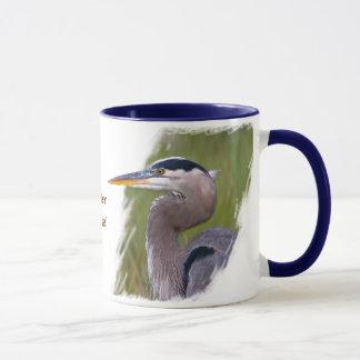 Mug Héron bleu royal
