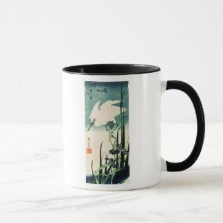 Mug Héron et iris blancs