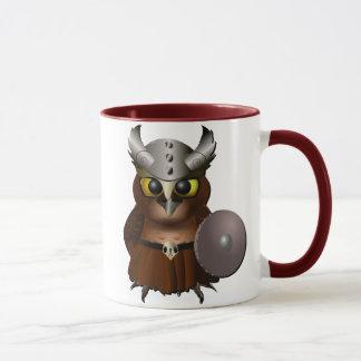 """Mug Hibou de casque de Viking de """"grand hibou à"""