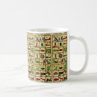 Mug Hiéroglyphes égyptiens, symboles alphabétiques
