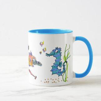 Mug Hippocampe de bande dessinée mignon
