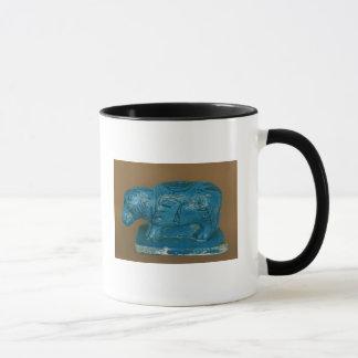 Mug Hippopotame bleu avec la décoration noire