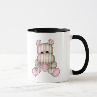 Mug hippopotame rayé rêveur