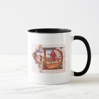 """Mug Historiated parafent """"D"""" dépeignant un apothicaire"""