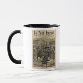 Mug Hiver à Paris marchant dans la boue