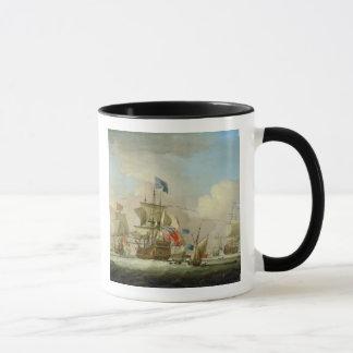 Mug Homme-de-Guerre britannique et un sloop, c.1720-30