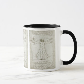 Mug Homme de Vitruvian par Leonardo da Vinci