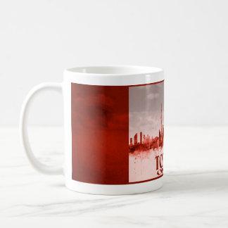 Mug Horizon de Toronto avec la grunge rouge
