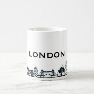 Mug Horizon noir et blanc de Londres