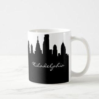Mug Horizon noir et blanc de ville de Philadelphie