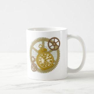 Mug Horloge et vitesses de Steampunk