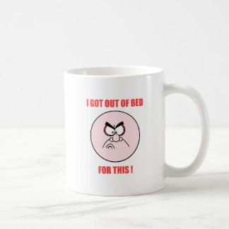 Mug hors du lit