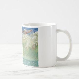 Mug Horses On du Roi Neptune la plage