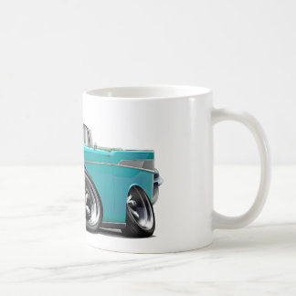 Mug Hot rod 1957 de convertible de turquoise de Chevy