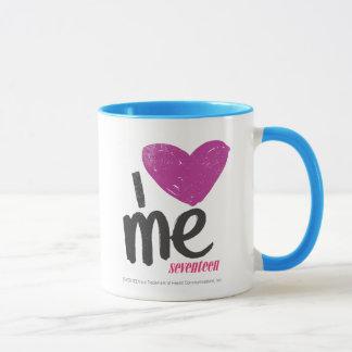 Mug I coeur je pourpre