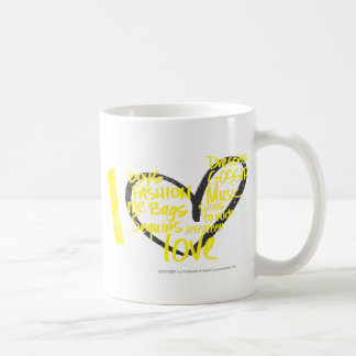 Mug I jaune de graffiti de coeur