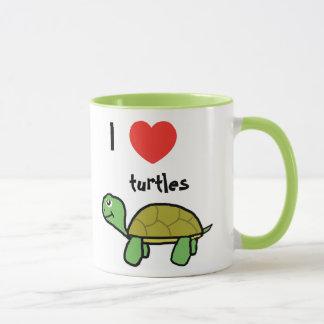 Mug I love turtles boude