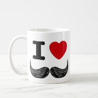 Mug I moustaches de coeur