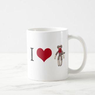 Mug I singe de chaussette de coeur