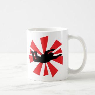 Mug icône de parachutiste de parachutisme