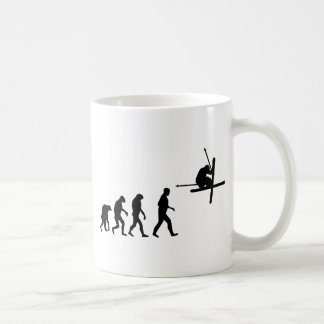 Mug icône d'évolution de ski