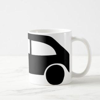 Mug icône noire de voiture d'accident