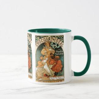 Mug Idéal d'Alphonse (Alfons) Mucha Chocolat