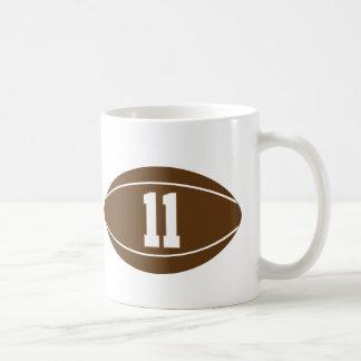 Mug Idée de cadeau du numéro 11 du Jersey de rugby
