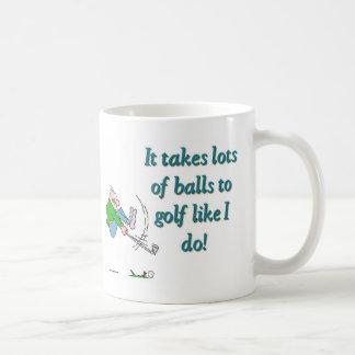 Mug Il prend beaucoup de boules pour jouer au golf