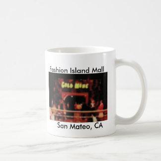 Mug Île San Mateo, CA de mode de mine d'or