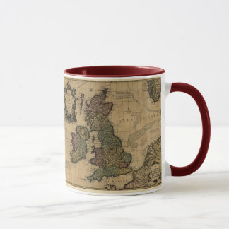 Mug Îles Britanniques, de Les carte 1700's