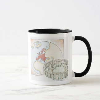 Mug Illustration de cercle en pierre antique devant