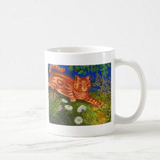 Mug Illustration de chat de jardin par Louis Wain
