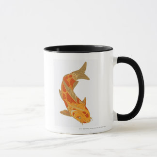 Mug Illustration de Digitals de carpe de Koi