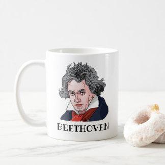 Mug Illustration de portrait de Beethoven