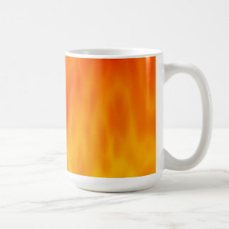 Mug Illustration du feu/flammes :